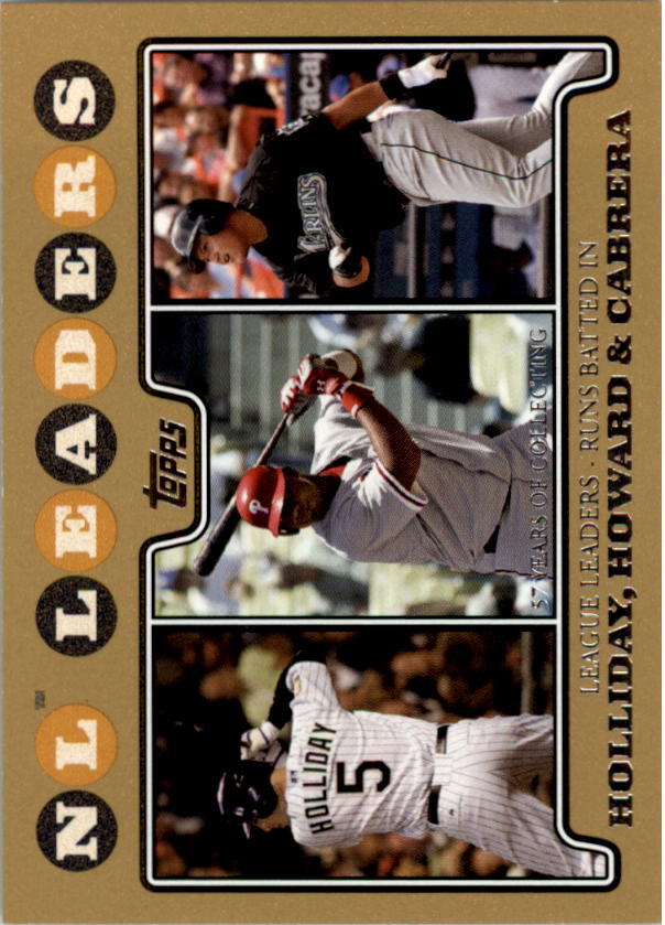 2008 Topps Gold Border #58 Matt Holliday/Ryan Howard/Miguel Cabrera