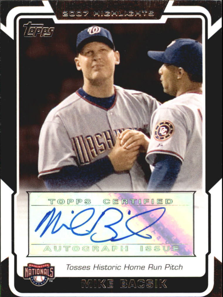 2008 Topps Highlights Autographs #MB Mike Bacsik F