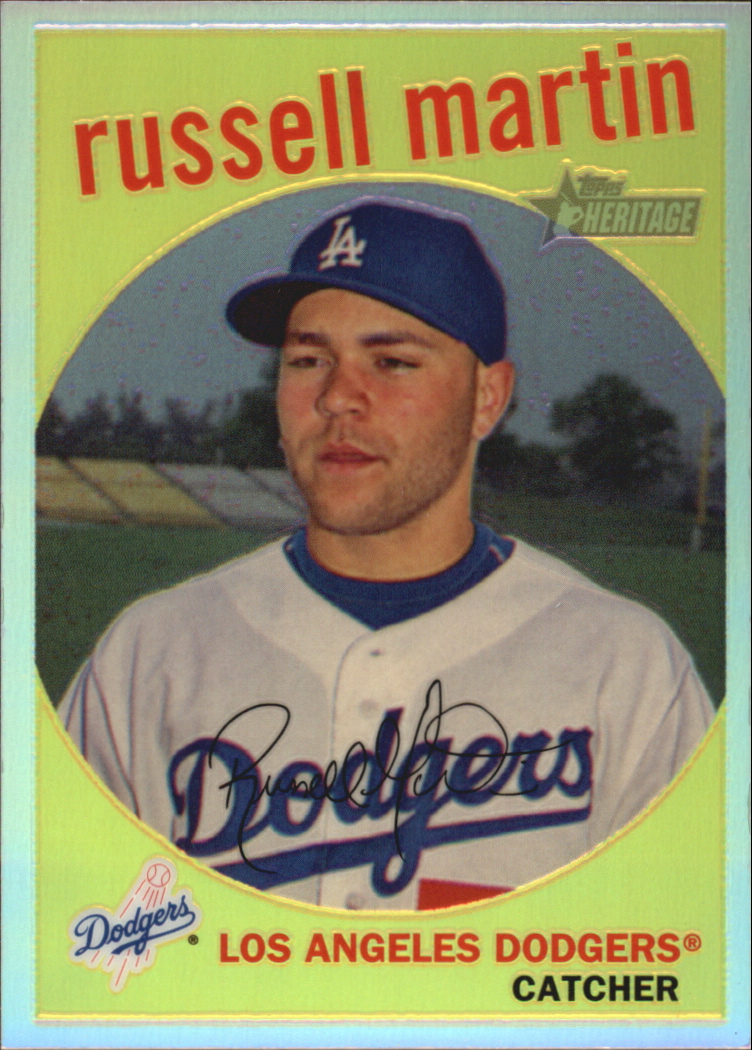 2008 Topps Heritage Chrome Refractors #C64 Russell Martin
