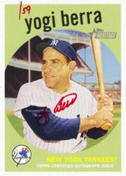 2008 Topps Heritage Real One Autographs Red Ink #YB Yogi Berra