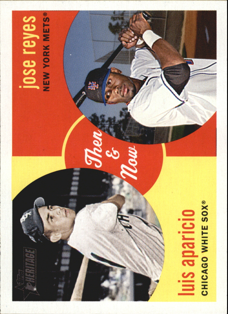 2008 Topps Heritage Then and Now #TN4 Jose Reyes/Luis Aparicio