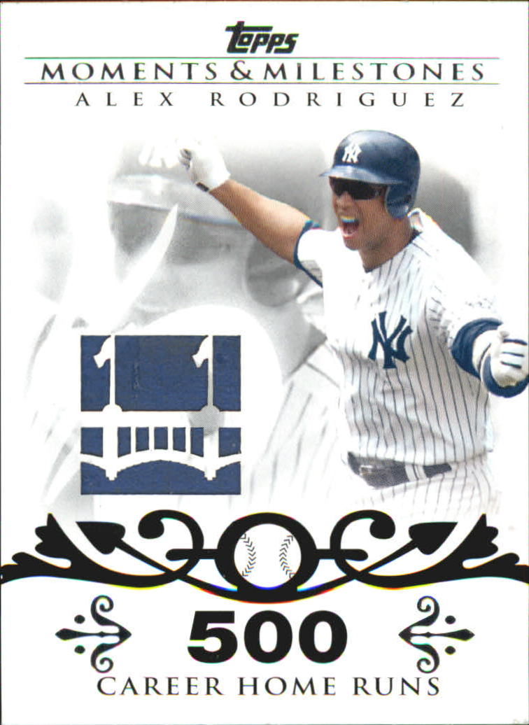 2008 Topps Moments and Milestones Alex Rodriguez 500 HR Wall Relic #AR Alex Rodriguez