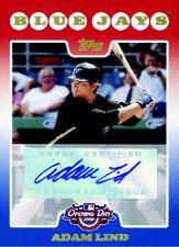 2008 Topps Opening Day Autographs #AAL Adam Lind A