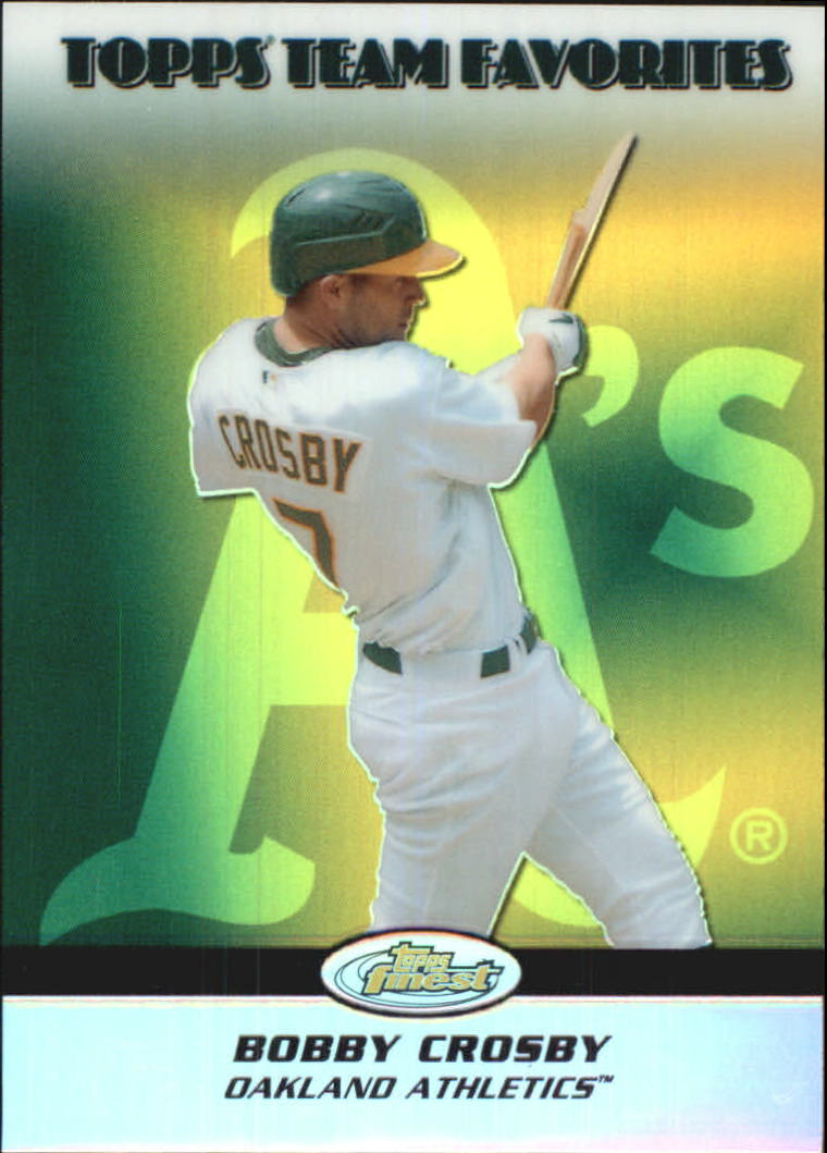 2008 Finest Topps Team Favorites Autographs #BC Bobby Crosby