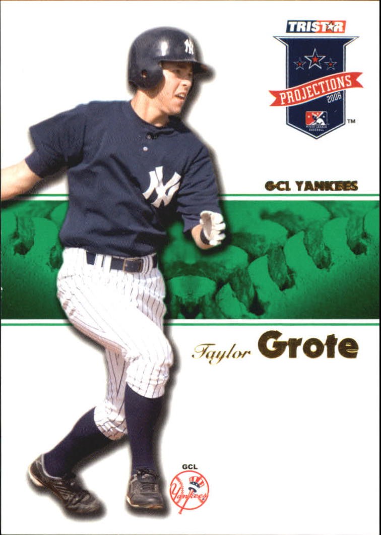 2008 TRISTAR PROjections Autographs Green #6 Taylor Grote