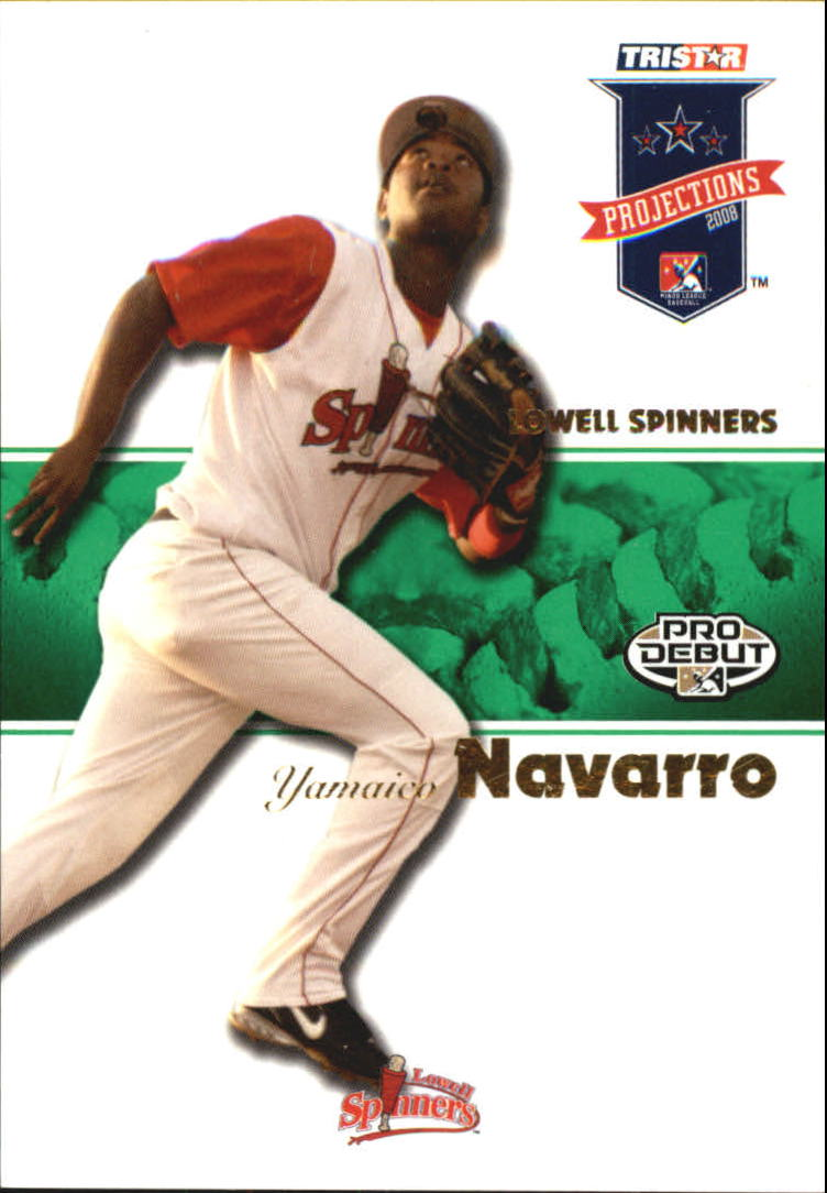 2008 TRISTAR PROjections Autographs Green #11 Yamaico Navarro