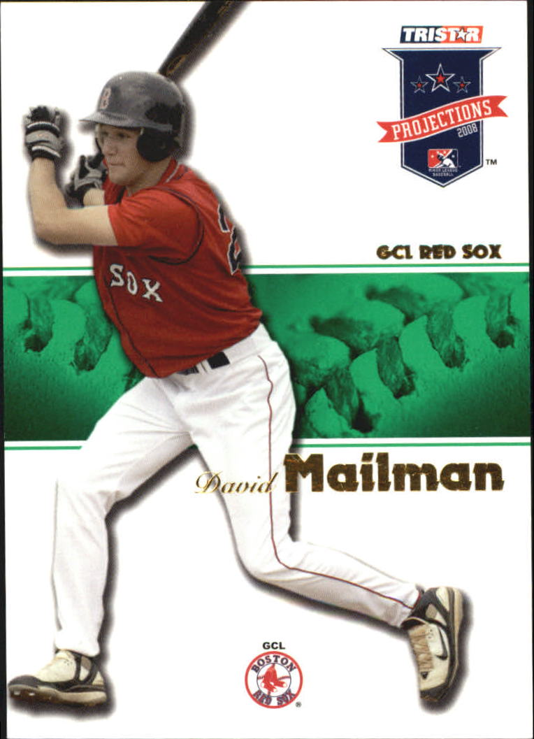 2008 TRISTAR PROjections Autographs Green #16 David Mailman