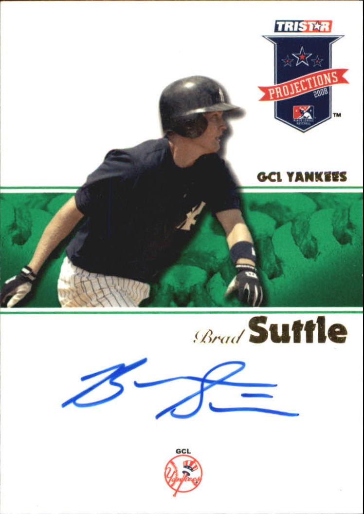 2008 TRISTAR PROjections Autographs Green #17 Brad Suttle