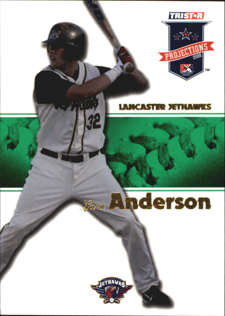 2008 TRISTAR PROjections Autographs Green #18 Lars Anderson