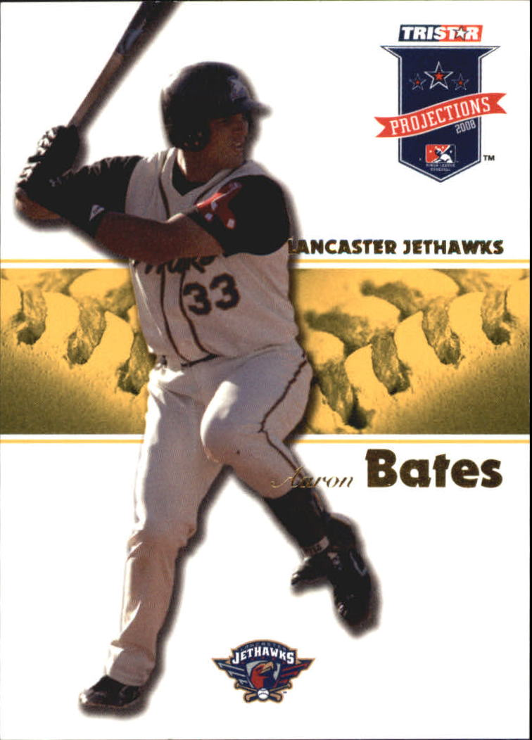 2008 TRISTAR PROjections Autographs Yellow #42 Aaron Bates