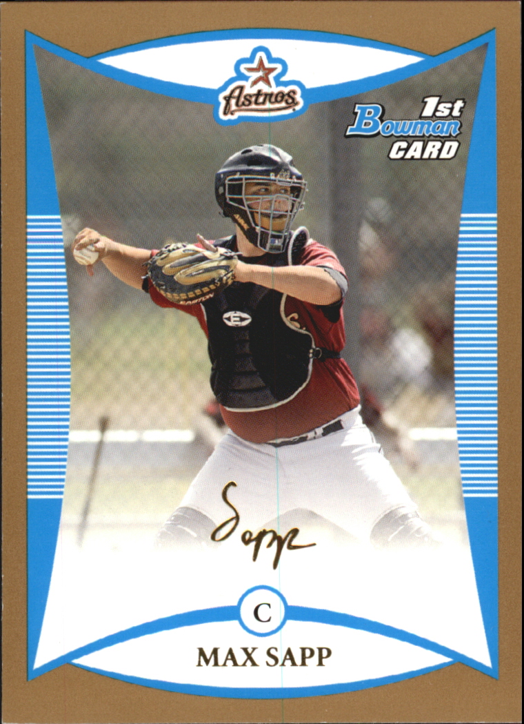 2008 Bowman Prospects Gold #BP1 Max Sapp