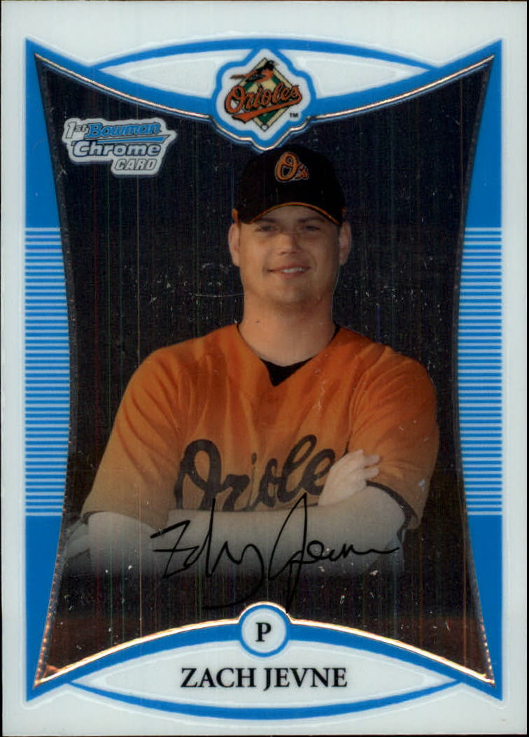 2008 Bowman Chrome Prospects #BCP196 Zach Jevne