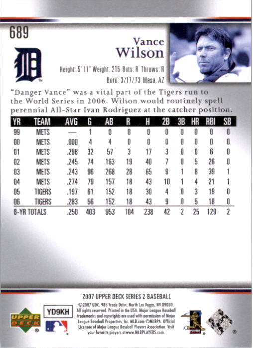 2007 Upper Deck Predictor Silver #689 Vance Wilson