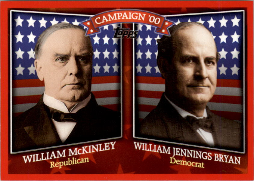 2008 Topps Historical Campaign Match-Ups #1900 William McKinley/William Jennings Bryan