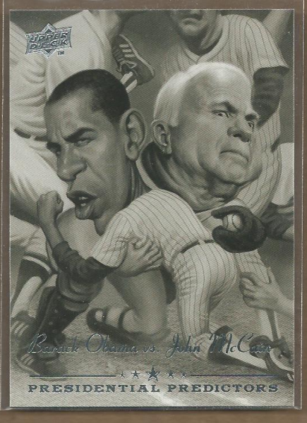 2008 Upper Deck Presidential Running Mate Predictors #PP13 Barack Obama/John McCain