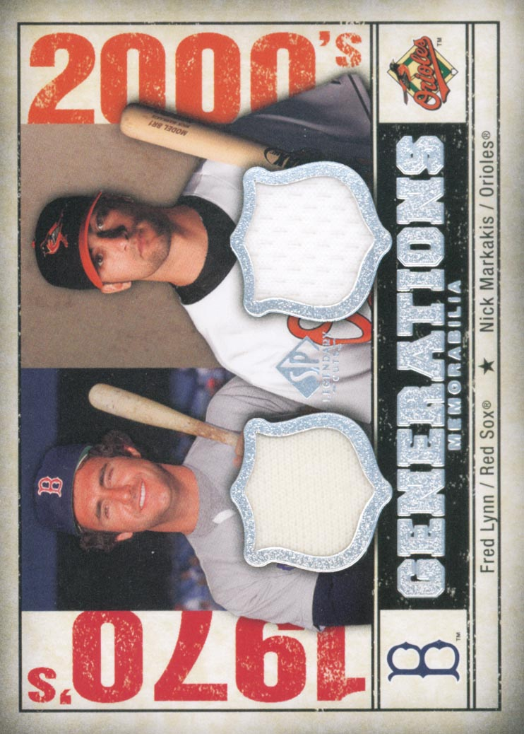 2008 SP Legendary Cuts Generations Dual Memorabilia #LM Fred Lynn/Nick Markakis