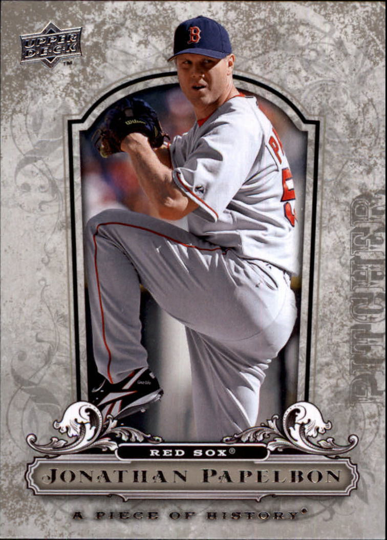 2008 UD A Piece of History #18 Jonathan Papelbon