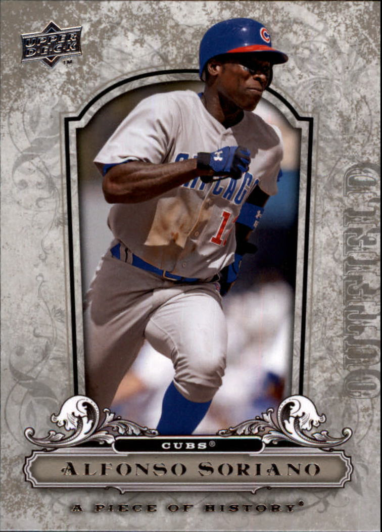 2008 UD A Piece of History #21 Alfonso Soriano