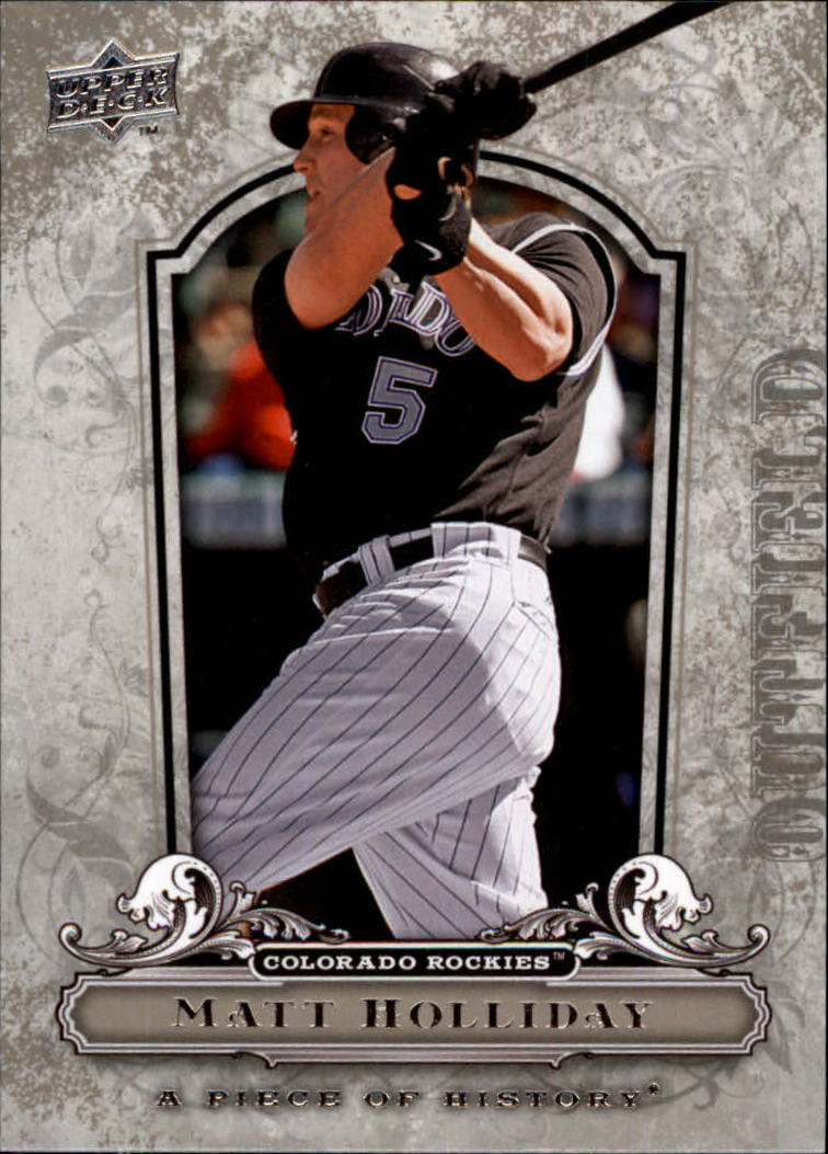 2008 UD A Piece of History #29 Matt Holliday