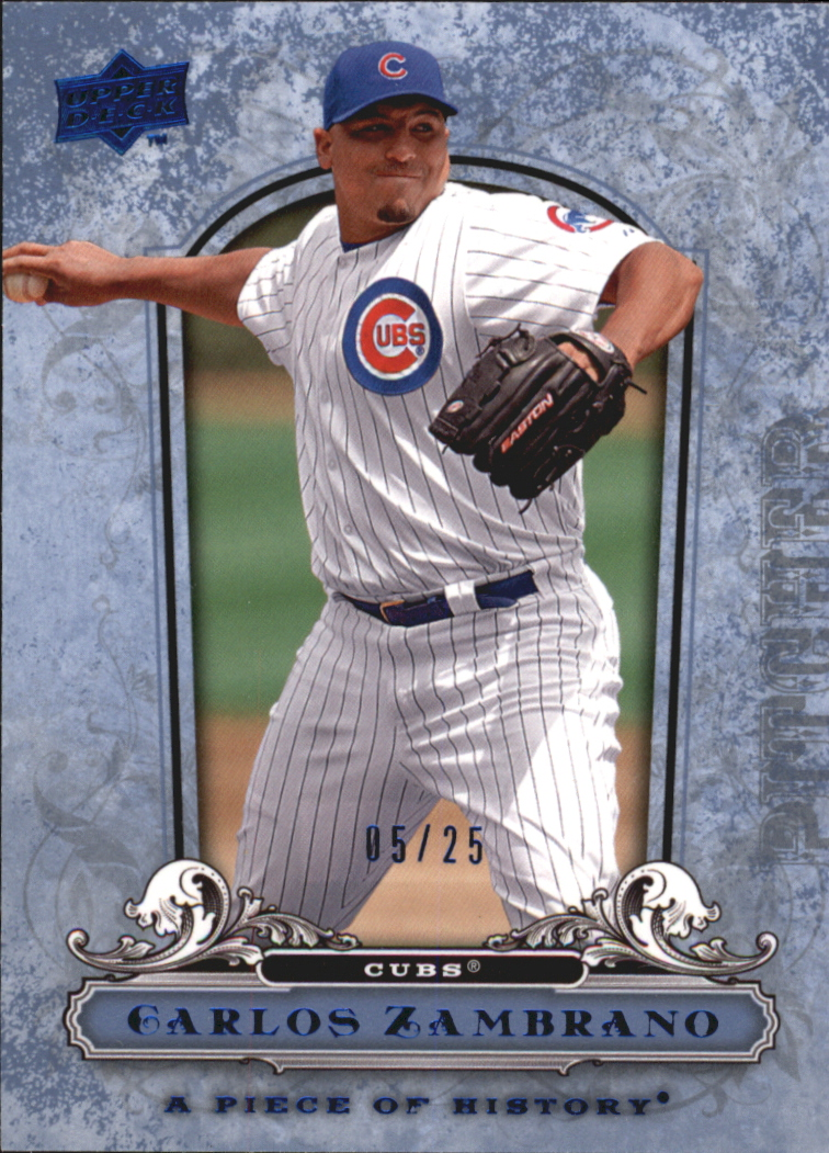 2008 UD A Piece of History Blue #23 Carlos Zambrano