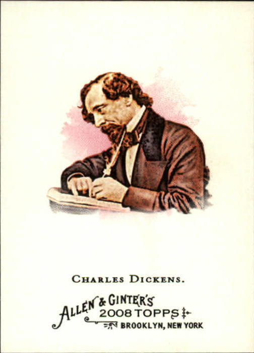 2008 Topps Allen and Ginter #219 Charles Dickens