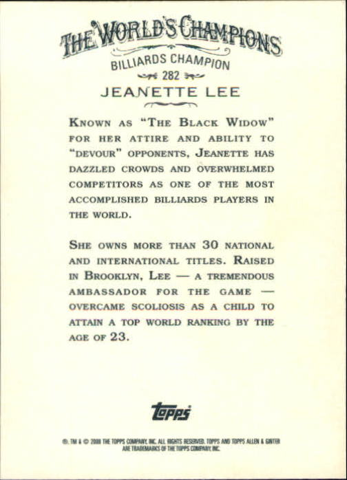 2008 Topps Allen and Ginter #282 Jeanette Lee