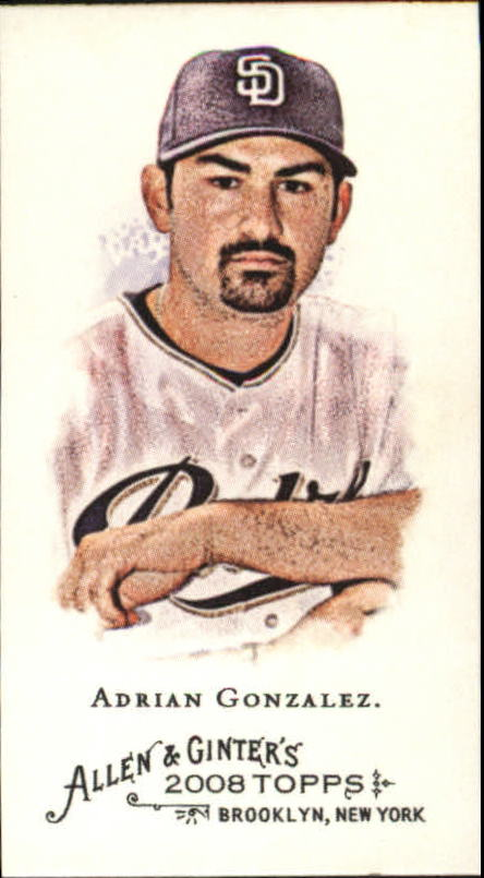 2008 Topps Allen and Ginter Mini #14 Adrian Gonzalez