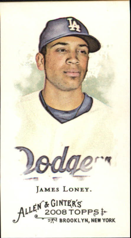 2008 Topps Allen and Ginter Mini #18 James Loney
