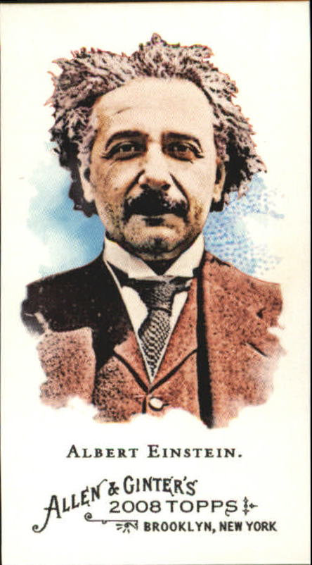 2008 Topps Allen and Ginter Mini #19 Albert Einstein