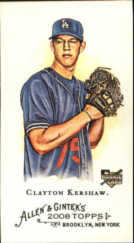 2008 Topps Allen and Ginter Mini #72 Clayton Kershaw