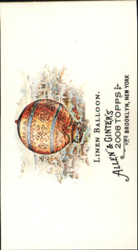 2008 Topps Allen and Ginter Mini Pioneers of Aviation #PA2 Linen Balloon