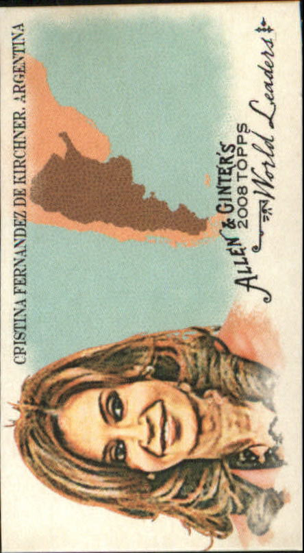 2008 Topps Allen and Ginter Mini World Leaders #WL1 Cristina Fernandez de Kirchner