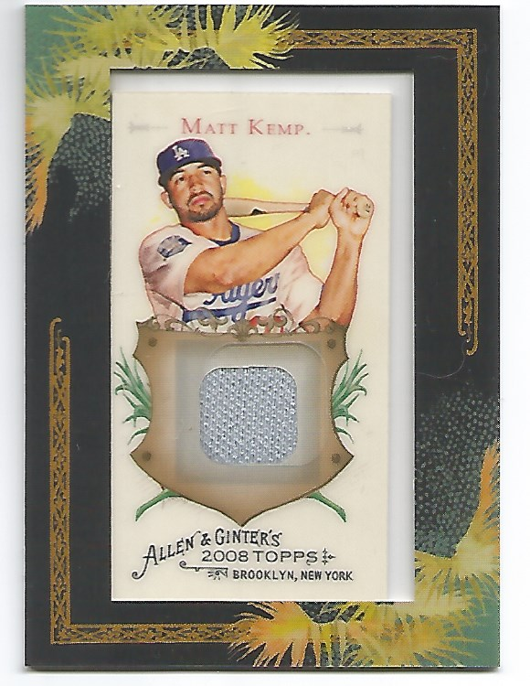 2008 Topps Allen and Ginter Relics #MK Matt Kemp Jsy C