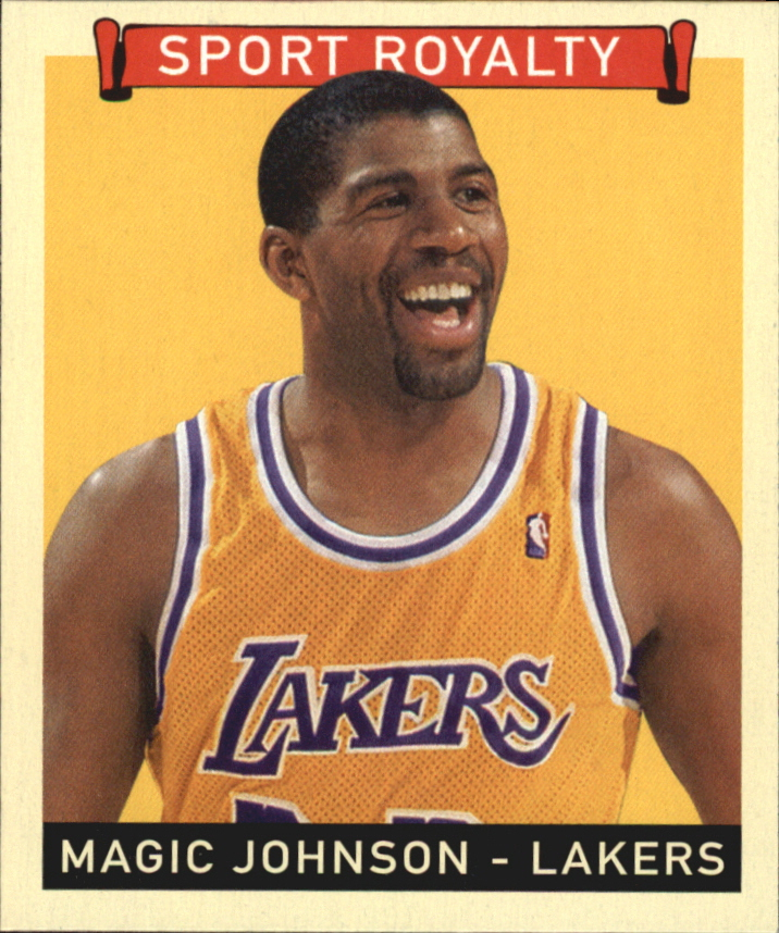 2008 Upper Deck Goudey Mini Black Backs #299 Magic Johnson SR