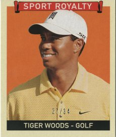 2008 Upper Deck Goudey Mini Black Backs #330 Tiger Woods SR