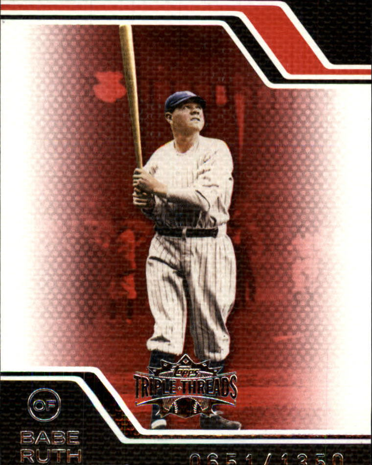 2008 Topps Triple Threads #10 Babe Ruth