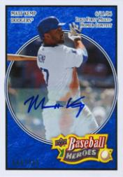 2008 Upper Deck Heroes Autographs Navy Blue #90 Matt Kemp/100