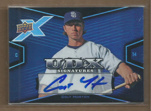2008 Upper Deck X Signatures #CM Colt Morton