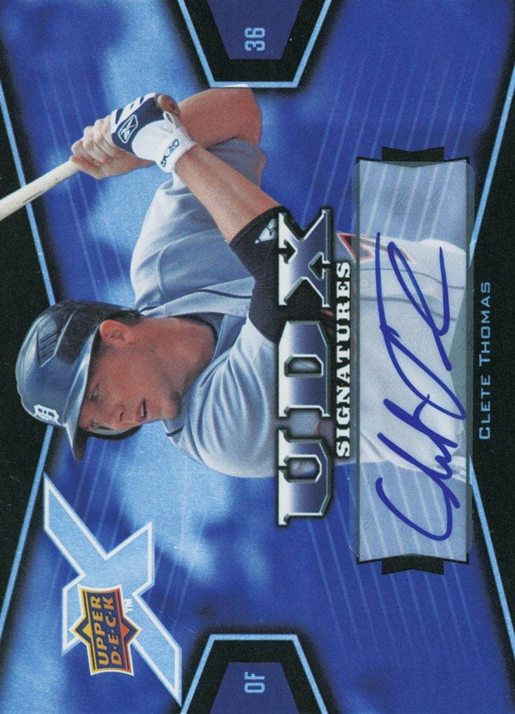 2008 Upper Deck X Signatures #CT Clete Thomas