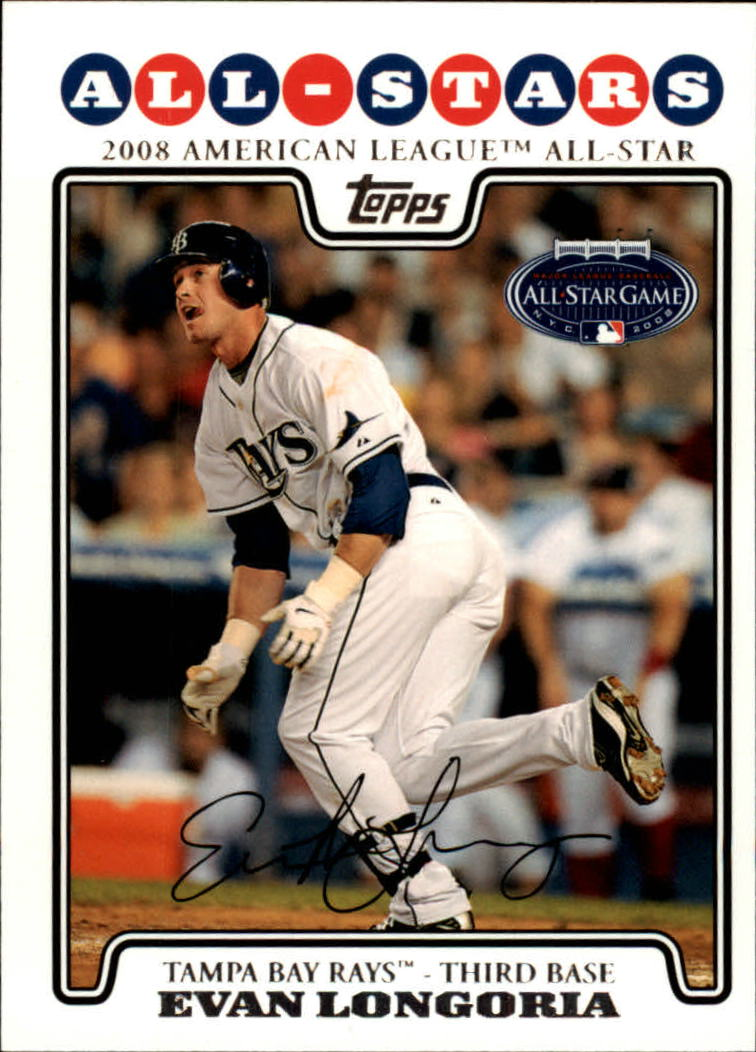 2008 Topps Update #UH288 Evan Longoria AS
