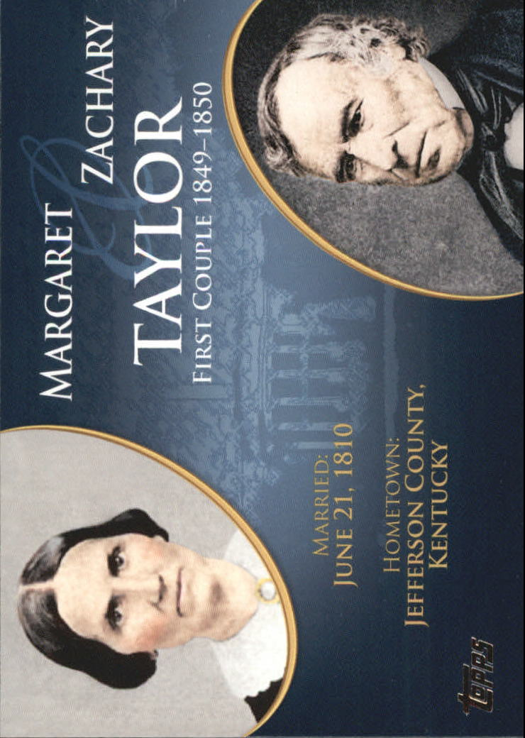 2008 Topps Update First Couples #FC12 Zachary Taylor/Margaret Taylor