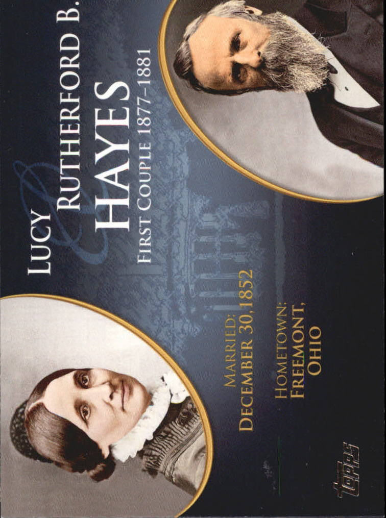 2008 Topps Update First Couples #FC18 Rutherford B. Hayes/Lucy Hayes