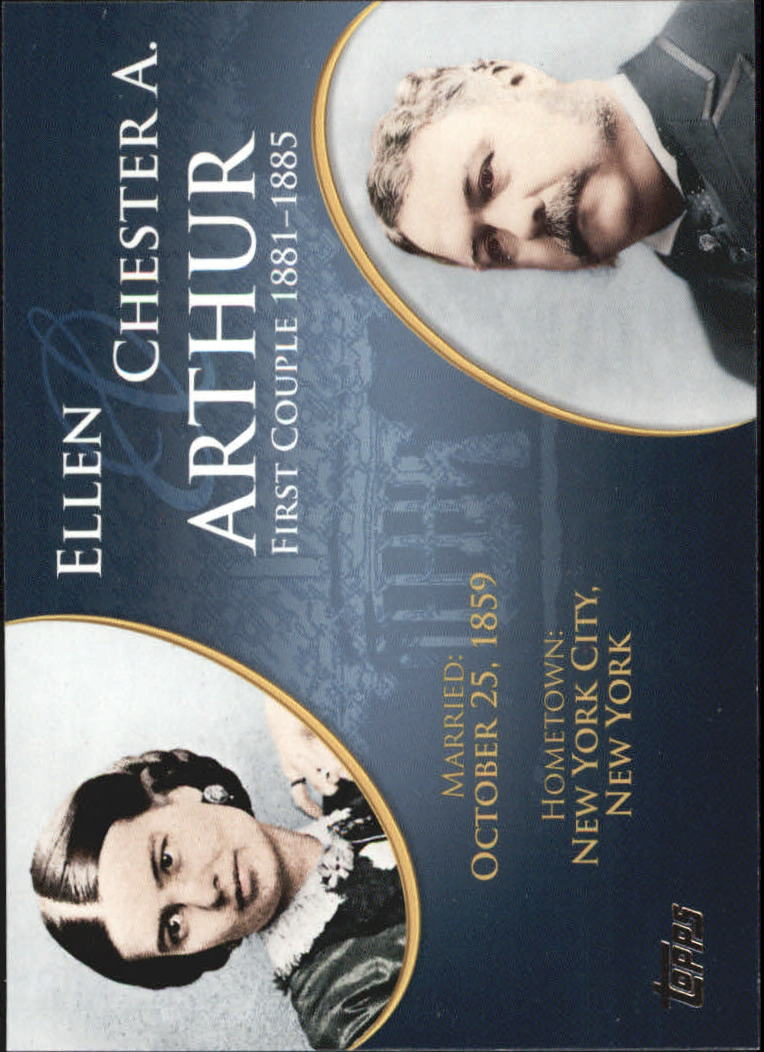 2008 Topps Update First Couples #FC20 Chester A. Arthur/Ellen Arthur