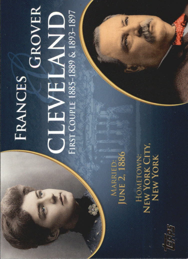 2008 Topps Update First Couples #FC21 Grover Cleveland/Frances Cleveland