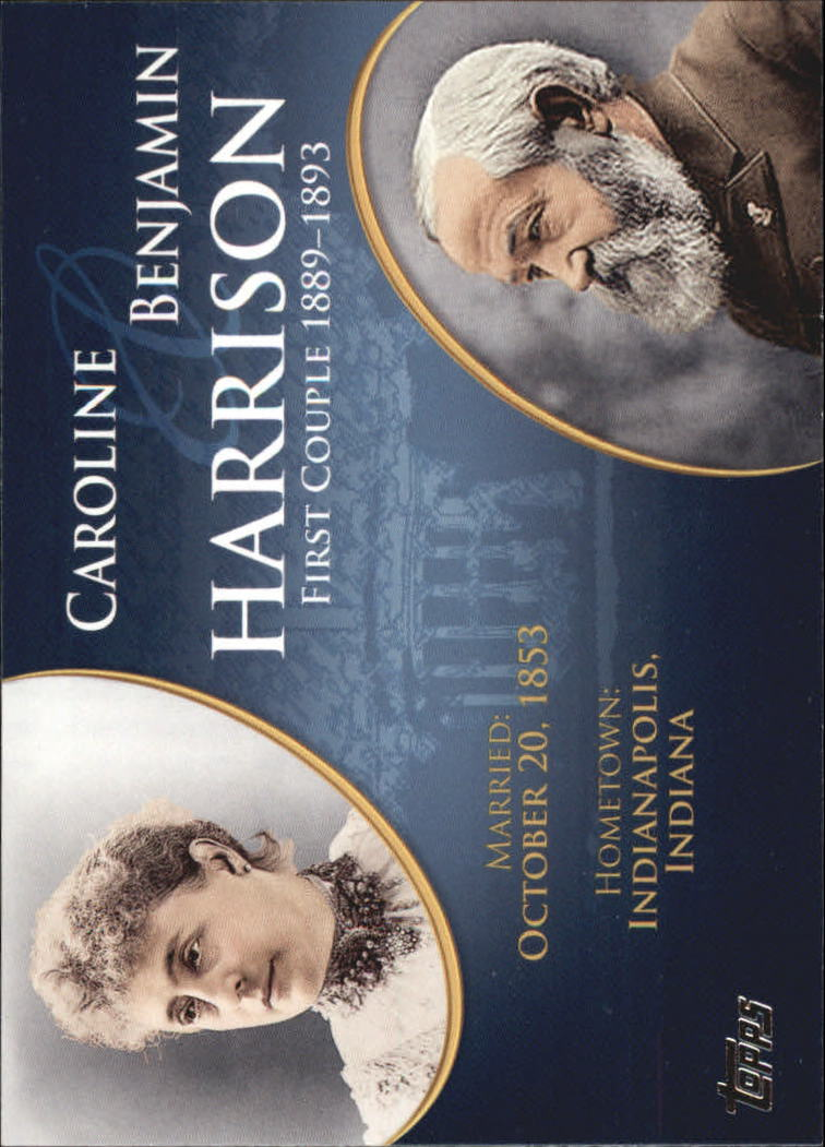2008 Topps Update First Couples #FC22 Benjamin Harrison/Caroline Harrison