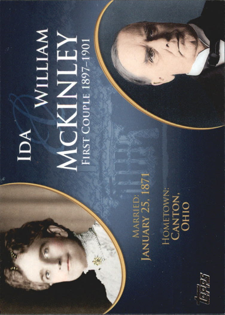 2008 Topps Update First Couples #FC23 William McKinley/Ida McKinley