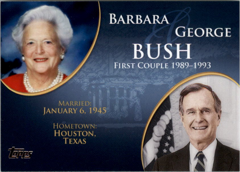 2008 Topps Update First Couples #FC39 George Bush /Barbara Bush