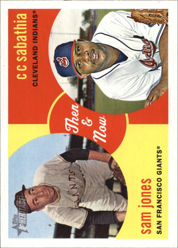 2008 Topps Heritage High Numbers Then and Now #TN10 Sam Jones/CC Sabathia