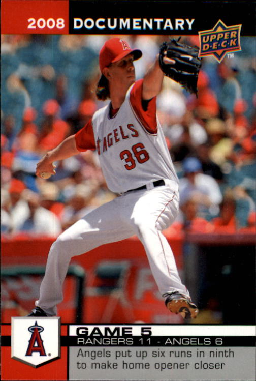2008 Upper Deck Documentary #5 Jered Weaver