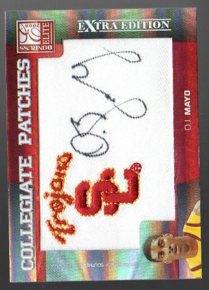 2008 Donruss Elite Extra Edition Collegiate Patches Autographs #4 O.J. Mayo/50